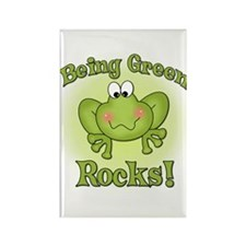 Being Green Rocks Rectangle Magnet
