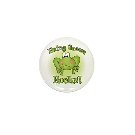 Being Green Rocks Mini Button (10 pack)