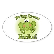 Being Green Rocks Oval Decal