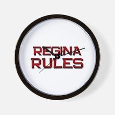 regina rules Wall Clock