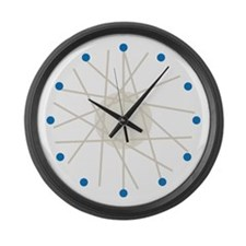 Haywire (blue) Large Wall Clock