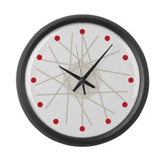 Haywire (red) Large Wall Clock