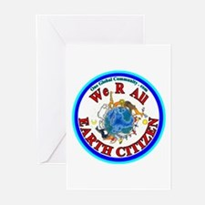 We R All EARTH CITIZ Greeting Cards (Pk of 10)