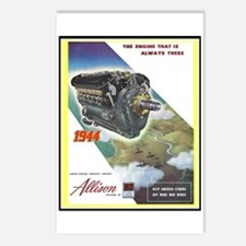 """WWII Allison Engines"" Postcards (Package of 8)"
