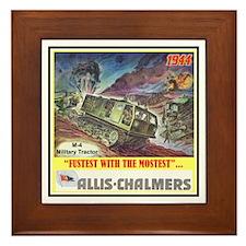 """M-4 Military Tractor"" Framed Tile"