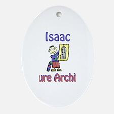 Isaac - Future Architect Oval Ornament