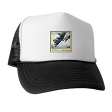 """""""Flying Fortress Engines Ad"""" Trucker Hat"""