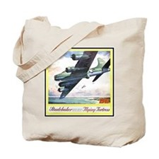 """""""Flying Fortress Engines Ad"""" Tote Bag"""