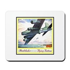 """""""Flying Fortress Engines Ad"""" Mousepad"""