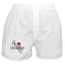 I Love Uzbekistan Boxer Shorts