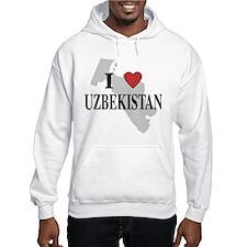I Love Uzbekistan Hoodie