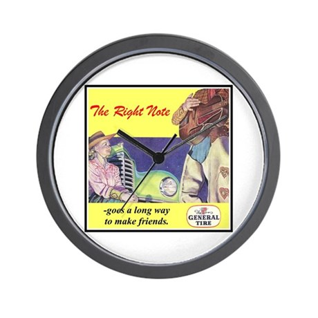 """1946 General Tire Ad"" Wall Clock"