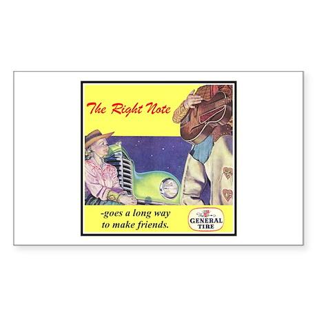 """1946 General Tire Ad"" Rectangle Sticker"