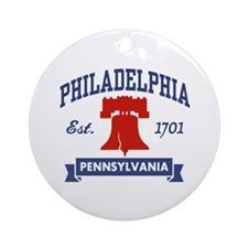 Philadelphia PA Ornament (Round)