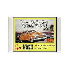 """1941 Nash Ad"" Rectangle Magnet"