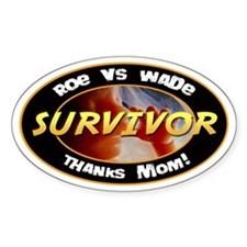 Roe vs. Wade Survivor Oval Decal