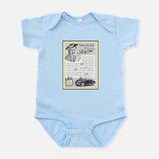"""""""1940 DeSoto Convertible Ad"""" Infant Bodysuit"""
