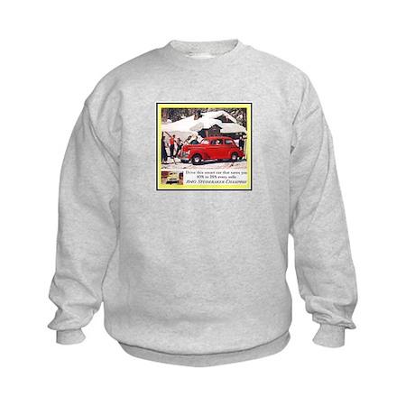 """1940 Studebaker Ad"" Kids Sweatshirt"