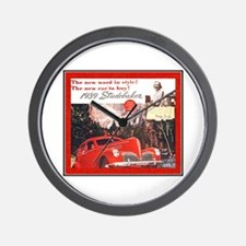 """1939 Studebaker Ad"" Wall Clock"