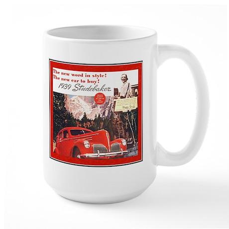 """1939 Studebaker Ad"" Large Mug"