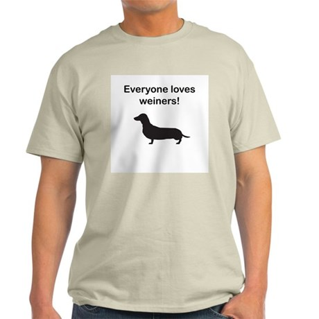 Everyone Loves Weiners Ash Grey T-Shirt