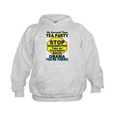 Tea Party Obama Fired Hoodie