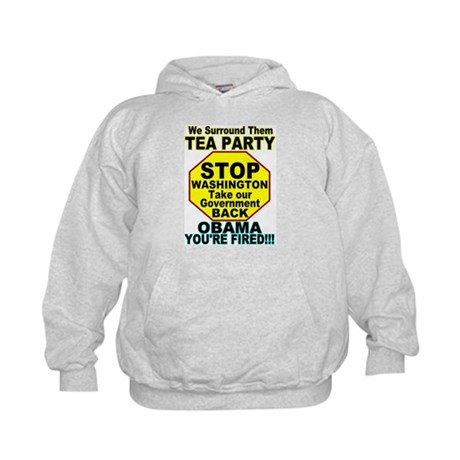 Tea Party Obama Fired Kids Hoodie