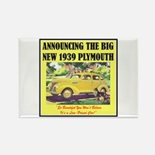 """1939 Plymouth Ad"" Rectangle Magnet"