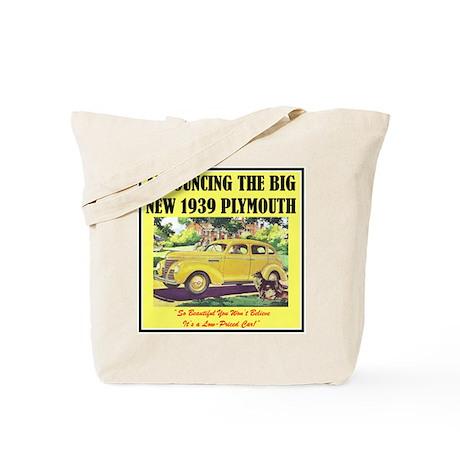 """1939 Plymouth Ad"" Tote Bag"