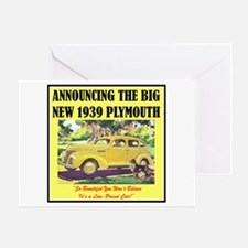 """1939 Plymouth Ad"" Greeting Card"