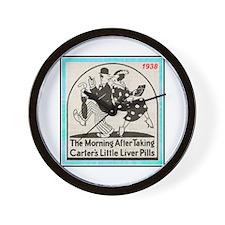 """""""1938 Liver Pills Ad"""" Wall Clock"""