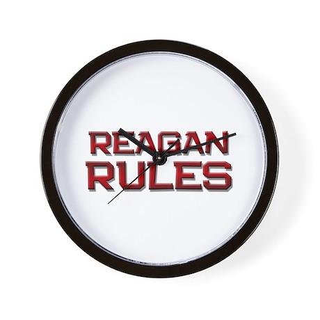reagan rules Wall Clock