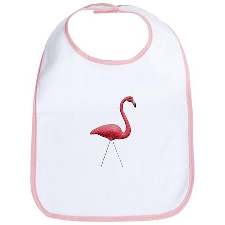 Retro Pink Flamingo Bib