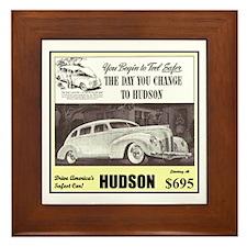 """""""1938 Hudson Ad"""" Framed Tile"""