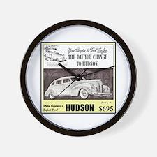 """1938 Hudson Ad"" Wall Clock"