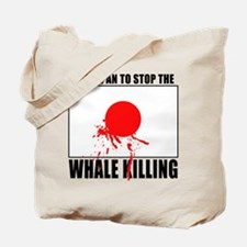 Japan Stop Whale Killing Tote Bag