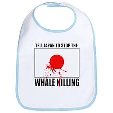 Japan Stop Whale Killing Bib