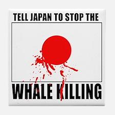Japan Stop Whale Killing Tile Coaster