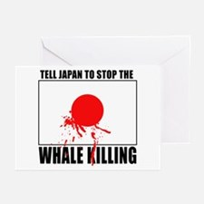 Japan Stop Whale Killing Greeting Cards (Pk of 10)