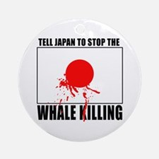 Japan Stop Whale Killing Ornament (Round)
