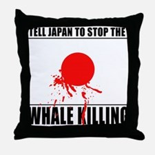 Japan Stop Whale Killing Throw Pillow