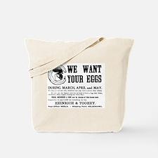 04/29/1909: Eggs Tote Bag