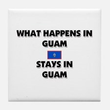 What Happens In GUAM Stays There Tile Coaster