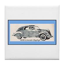 """1936 Lincoln Zephyr"" Tile Coaster"