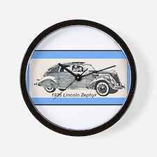 """1936 Lincoln Zephyr"" Wall Clock"