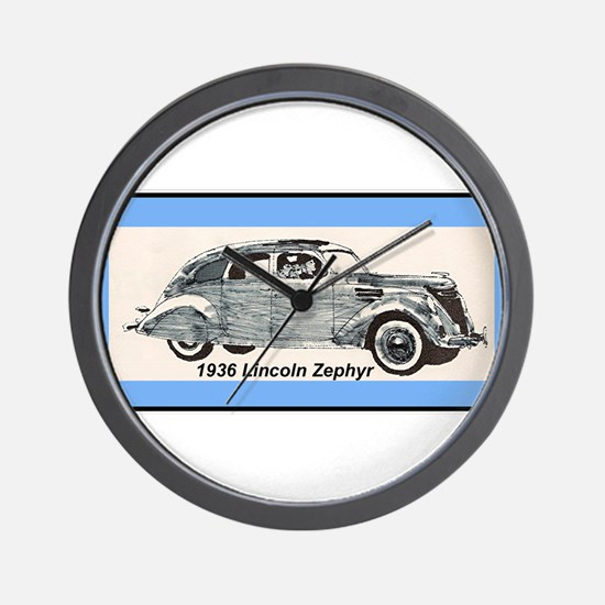"""1936 Lincoln Zephyr"" Wall Clock"