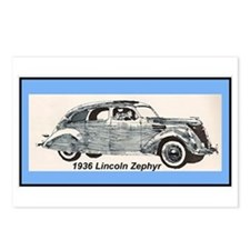"""""""1936 Lincoln Zephyr"""" Postcards (Package"""