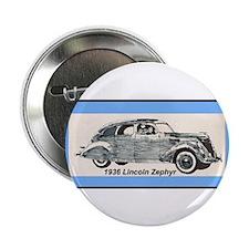 """""""1936 Lincoln Zephyr"""" 2.25"""" Button"""
