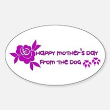 Happy Mother's Day From The D Sticker (Oval 10 pk)