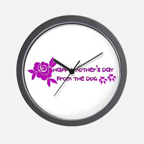 Happy Mother's Day From The Dog Wall Clock